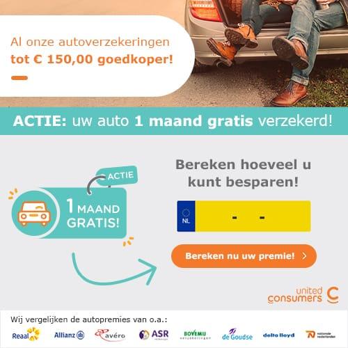 Autoverzekering 1 maand gratis
